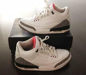 dcc74484d634c8 2011 Air Jordan 3 White Cement Sz. 9.5