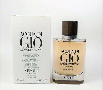 Acqua Di Gio Absolu 2.5 Oz  75 ml By Giorgio Armani New Unsealed Tstr