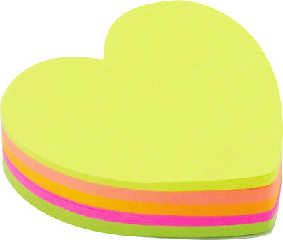 4a Cute Sticky Notes Bookmark Office Supplies Neon Assorted Total 200 Sheets