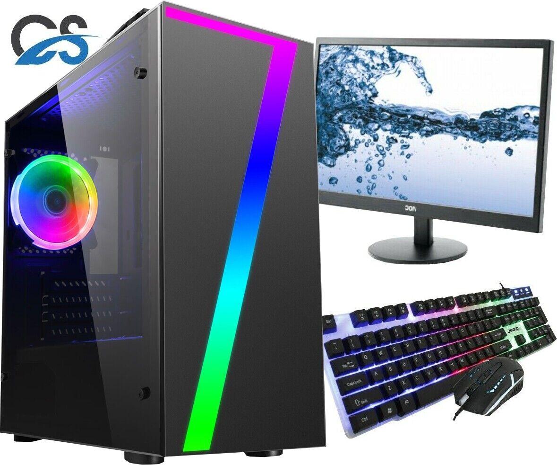 Computer Games - CiT Seven Gaming Computer PC Bundle Intel Core i5 16GB 1TB GTX 1650 19'' LED