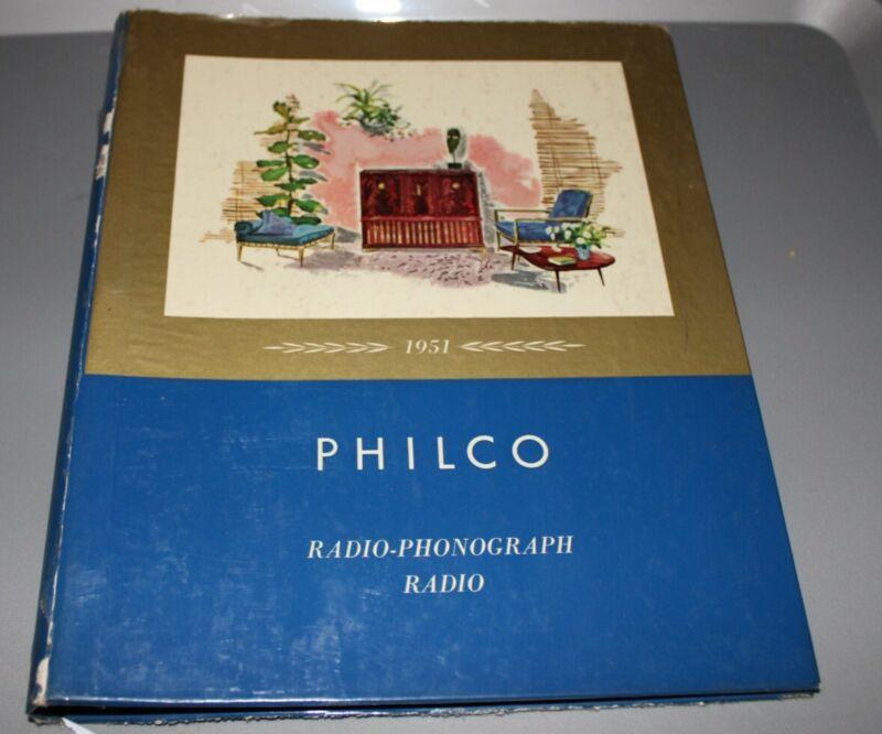 Vintage 1951 Philco Radio-Radio Phonograph Salesman Catalog, Amazing Graphics