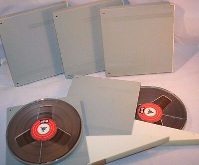 "7"" BASF LP35 HiFi Tape Reel Blank 1800 Feet ""One Tape"" With Hard Cases In GUC"