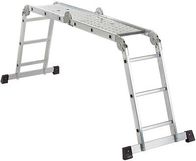 LifeGear 3.58mtr Multipurpose Work Platform Folding Combination Scaffold Ladder