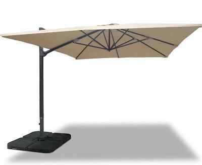 Extra Large Umbra® Cantilever Parasol Rectangular 3x4m - Green, Natural, Taupe