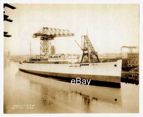 SS ANTIGUA -- Original Shipyard Photo, 1932 -- United Fruit Co., Bethlehem Ship
