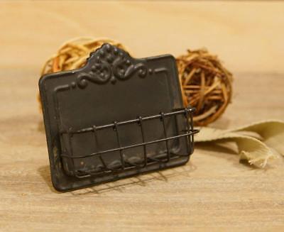Antiqued Dark Brown Business Card Holder Vintage Style Card Display Stand