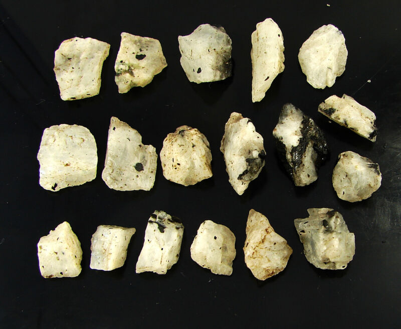 200.00 Ct Natural Raw Rainbow Moonstone Loose Gemstone Rough Gem 18 Pcs Lot-6697
