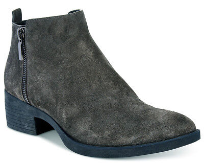 - NIB Brand New Ladies Kenneth Cole Levon Asphalt Grey Leather/Suede Ankle Boots