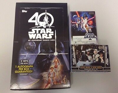 2017 Topps Star Wars 40th Anniversary complete base set - (200 Cards)