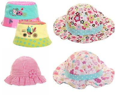 Bright Baby Toddler Girls Bucket Flower Beach Floppy Sun Hat 100% Cotton Summer