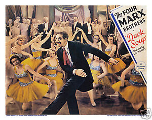 DUCK SOUP LOBBY SCENE CARD # 2 POSTER 1933 THE FOUR MARX BROTHERS