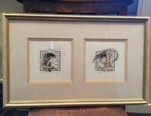 J C Graham Illingworth 'Plume I & II' Limited edition silkscreen prints 219/850