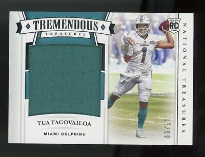 2020 National Treasures Tremendous Tua Tagolvailoa Jersey 17/99