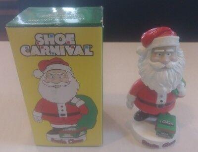 Shoe Carnival Santa Claus Bobblehead Doll W Original Box Christmas Rare