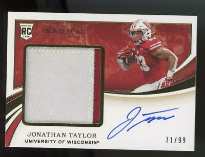 2020 Panini Immaculate RPA Jonathan Taylor 37/75 Auto Patch RC Rookie