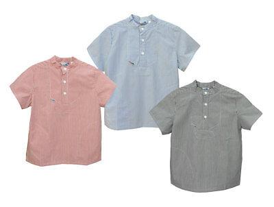 Modas Sommer Kinder Fischerhemd für Mädchen und Jungen in 3 Farben - Kurzarm