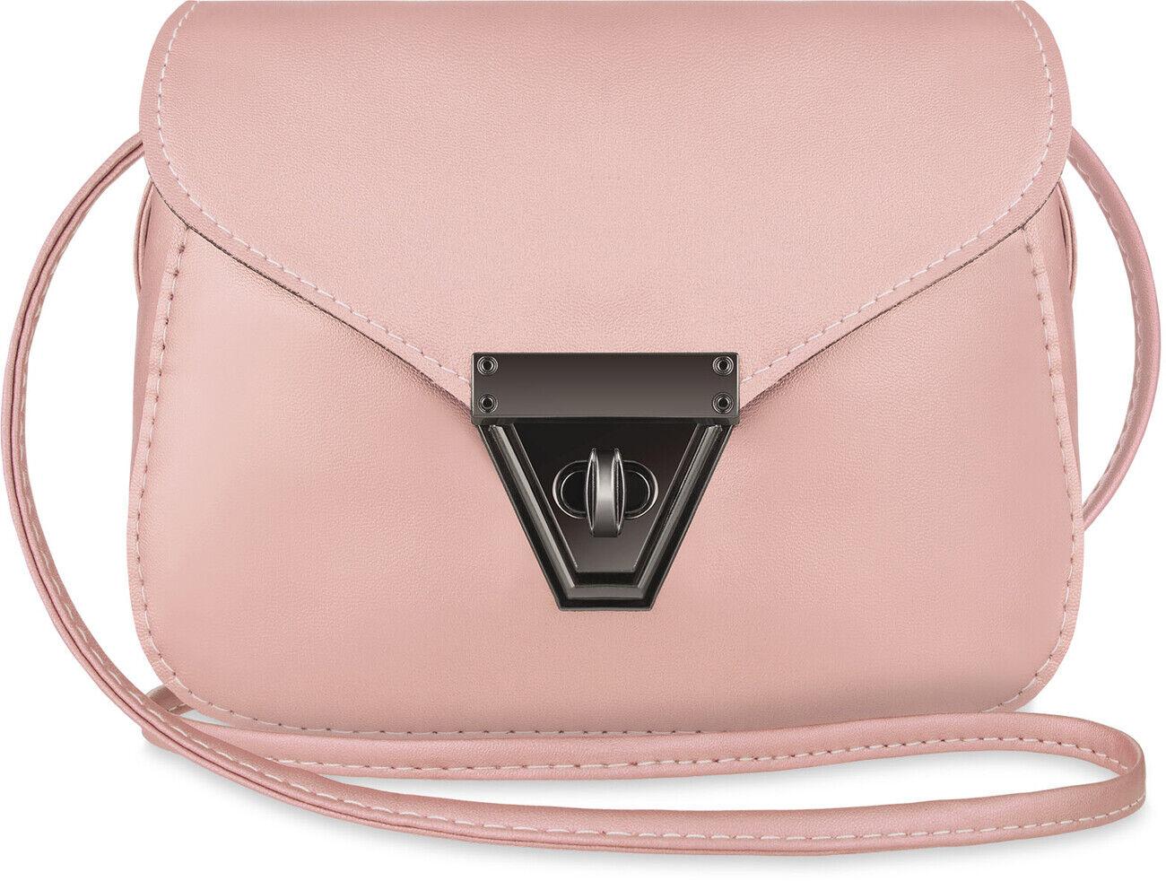 kleine Damentasche Schultertasche täglicher Begleiter Handtasche rosa