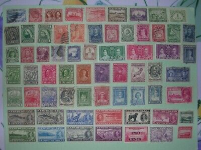 Small lot of used loose vintage stamps from Newfoundland