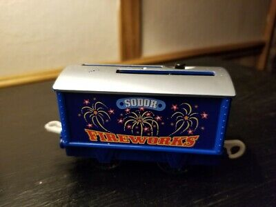 Thomas The Train Diecast SODOR FIREWORKS Car- Lights & Sound - 2008 Gullane