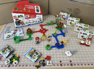 HUGE LEGO Super Mario LOT! Starter Course +4 PowerUp Packs 71360, 71361, 71370-3