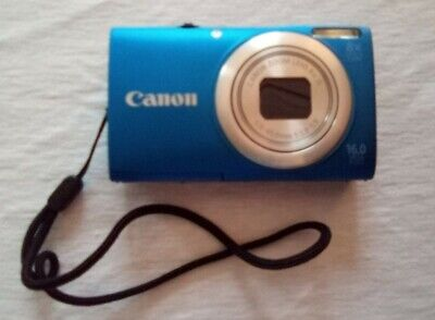 Canon PowerShot A4000 IS 16.0MP Camera - Blue w/SD card, cable, & battery