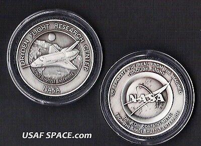 ENTERPRISE NASA DRYDEN COIN-MEDALLION - FLOWN METAL FROM SPACE SHUTTLE ENTER