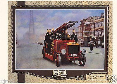 Blackpool Fire Brigade Leyland FE Escape Ladder Fire Engine (FR 669) Postcard