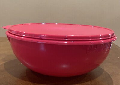 NEW TUPPERWARE FIX-N-MIX LARGE CLASSIC BOWL 6.5 L-IN CHERRY COLOR !!!!!