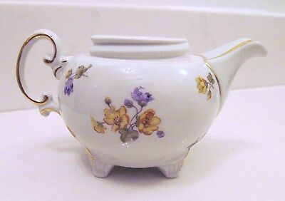 OSCAR SCHLEGELMILCH VINTAGE GERMAN PRUSSIA SWABIA HAND PAINTED TEAPOT - NO LID