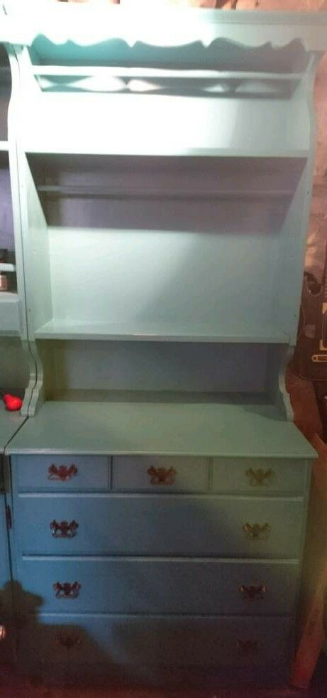 Beautiful bureau / dresser with drawers and hanging rail