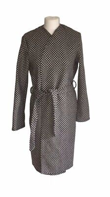 Collection London Womens Checkered Winter Black & White Belted Overcoat Size 18 for sale  Shipping to Nigeria