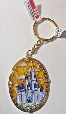 Disney Parks WDW Cinderella Castle Stained Glass Keychain