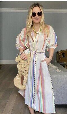Large - lemlem x H&M - Multi/Striped - Lyocell-blend Kaftan Dress Bnwt New BNWT
