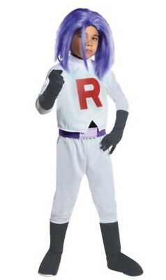 Pokemon Team Rocket James Halloween Costume Large L (12-14) Shirt Pants Gloves (Team Rocket Halloween Costumes)