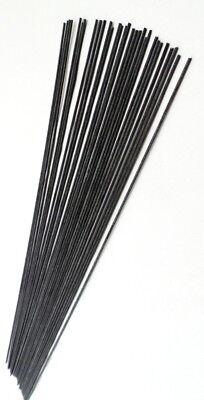 Black Fibreglass stems 20cm long x30(Pole float making materials & supplies)
