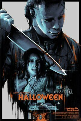 HALLOWEEN MICHAEL COMES HOME limited edition print #225 VANCE KELLY 24x36 Mint](Kelly Michael Halloween)