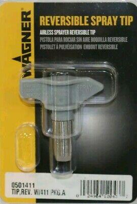 Wagner 0501411 Airless Sprayer Reversible Spray Tip Rev. W411 Pkg.a