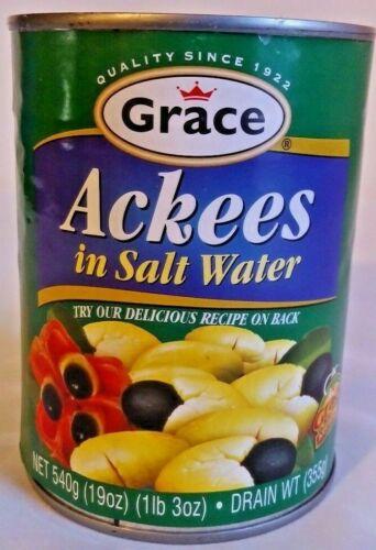 Grace Jamaican Ackees 4 X 19 OZ./540 g  (76 Ounces or 4 lb/12 ounce 0.50 OZ