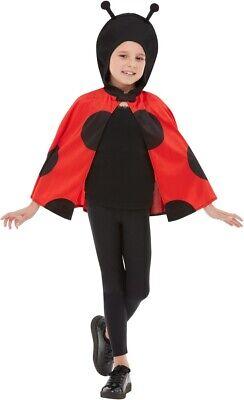 Marienkäfer Kostüm Kinder Kapuzenumhang Insekt Käfer Ladybug schwarz - Insekten Kostüm Kinder