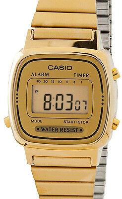 Casio Ladies LA670WGA-9 Watch Gold Steel Band Digital Classic Vintage New