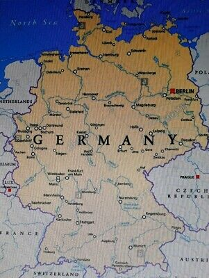 Topo Germany Deutschland Terrain Topographic Map for Garmin devices