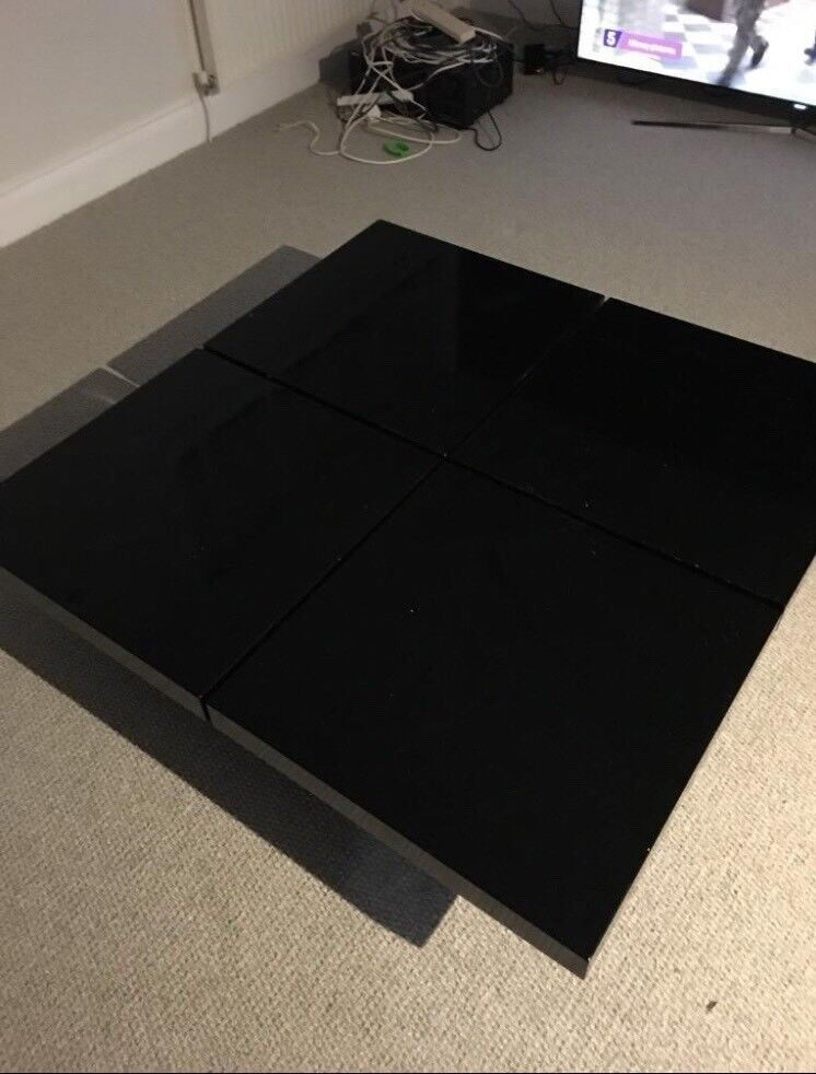 Black Gloss Habitat Low Coffee Table