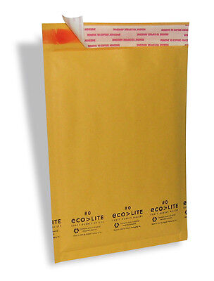 25 5 10.5x16 Kraft Ecolite Bubble Mailers Padded Envelopes 5
