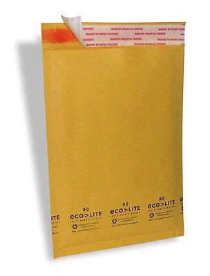 25 5 10.5x16 Kraft Ecolite Bubble Mailers Padded Envelopes 5