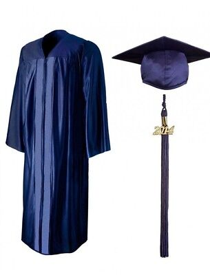 Bachelor or HS Graduation Cap and Gown with Tassel Black, Navy, or Royal Blue - Royal Blue Cap And Gown