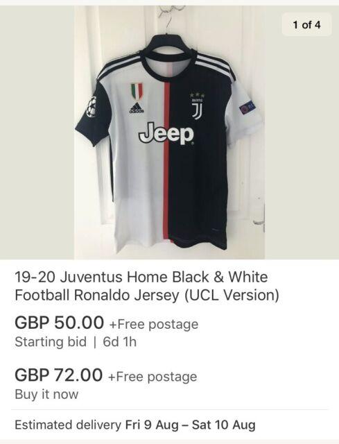 huge discount 59fb0 ab67d Juventus Home Kit 19-20 Official Champions League Version ...