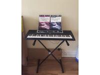YAMAHA YPT-210 keyboard with stand & books