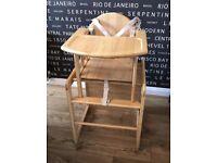 East coast wooden 2-in-1 highchair