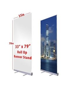 """33"""" x 79"""" retractable banner stand"""