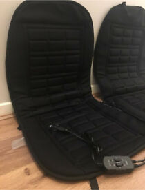 2 heated car seat covers